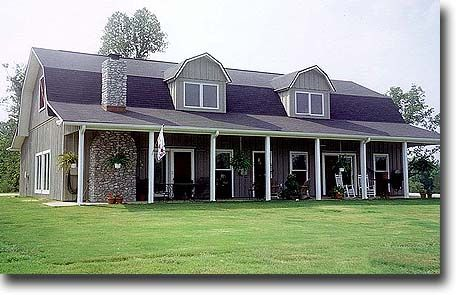 Ranch+Styles+Pole+Barn+Home | Pole Barn House Plans – Traditional ...