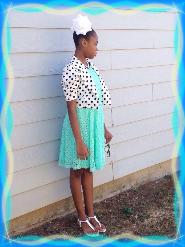 Little Girls Easter Outfit...love the colors and polka dots.