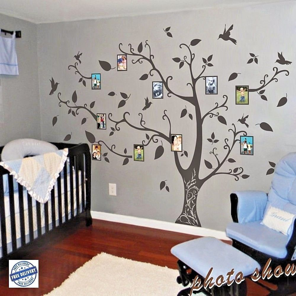 Family Memory of Tree Bird Wall Sticker Photo Frame Vinyl Removable Decor decal #Geckoo