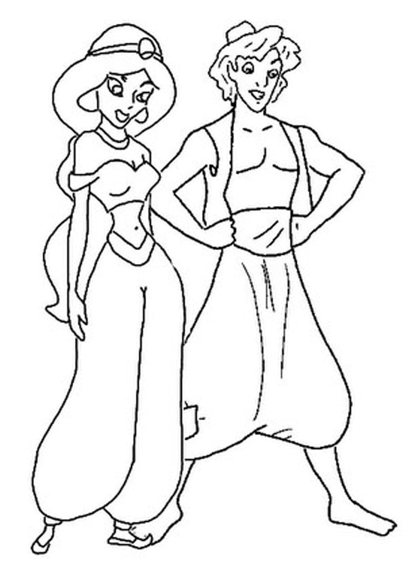 Free Printable Aladdin Coloring Pages For Kids | Pinterest | Disney ...