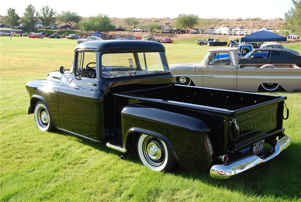 1956 apache long bed trucks for sale 1956 chevrolet apache lot 1525 2 barrett jackson. Black Bedroom Furniture Sets. Home Design Ideas