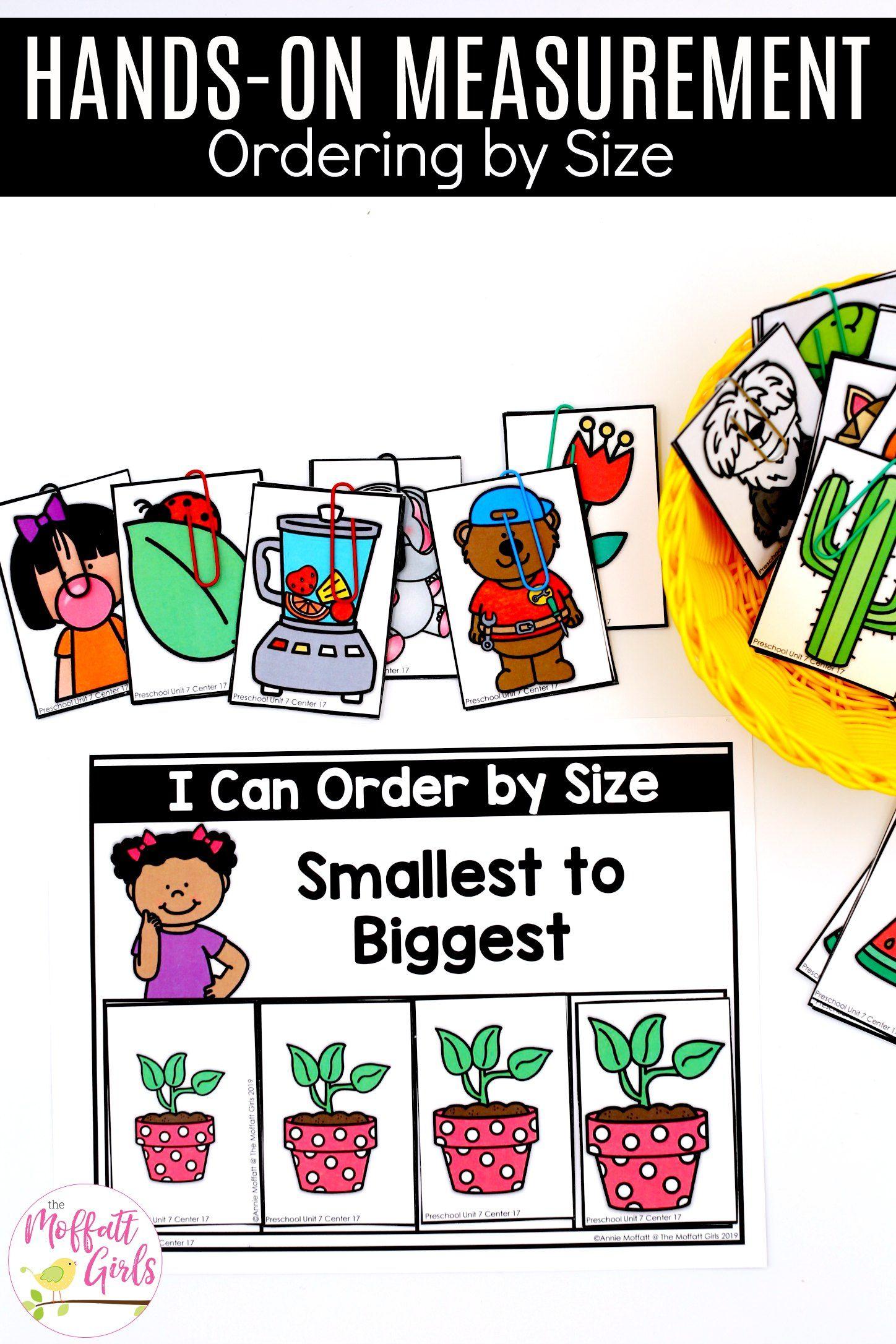 Preschool Math Measurement In
