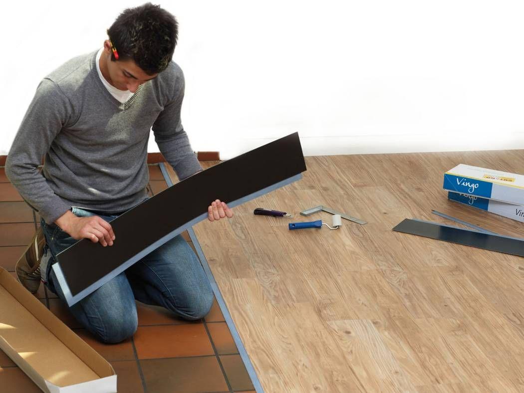 Pvc Polyvinylchlorid Als Bodenbelag Vinyl Planken Fliesen Legen Laminat Auf Fliesen