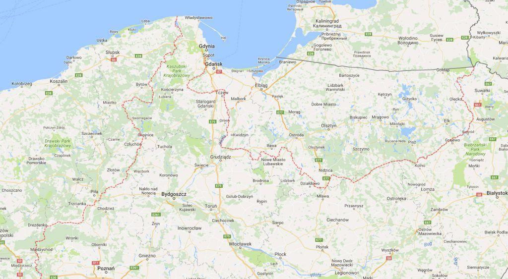 Granica Północna Mapa Przedwojennych Granic II Rzeczypospolitej - Map of egypt google maps