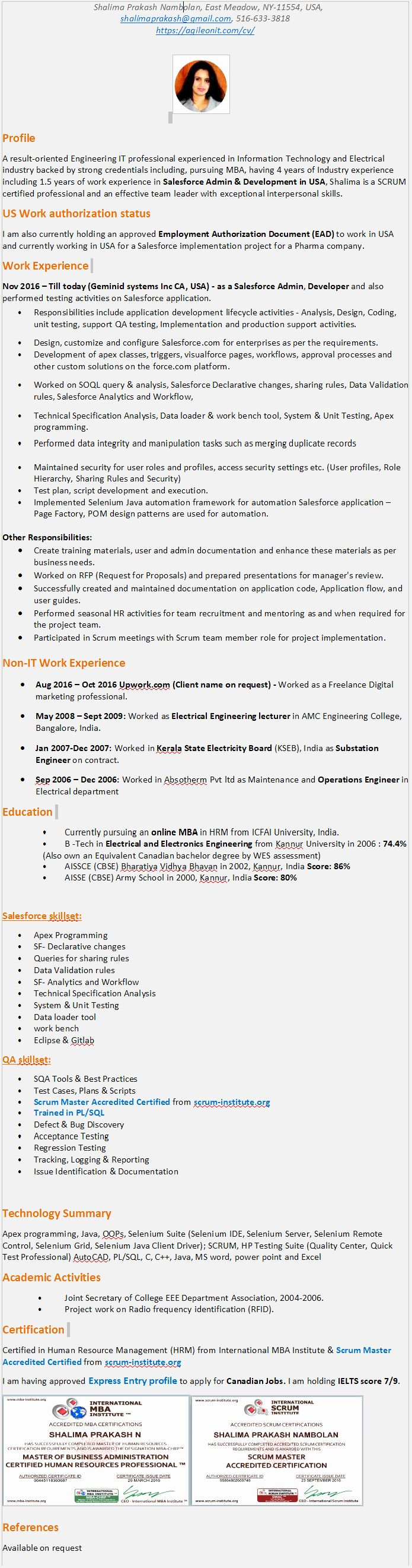 Java With Aws Resume Luxury Cv Blog Automation Testing Framework Selenium Java Python Robotics In 2020 Job Resume Samples Medical Assistant Resume Resume