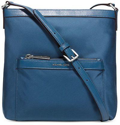 MICHAEL Michael Kors Morgan Medium Messenger Bag (in Steel Blue/Silver)