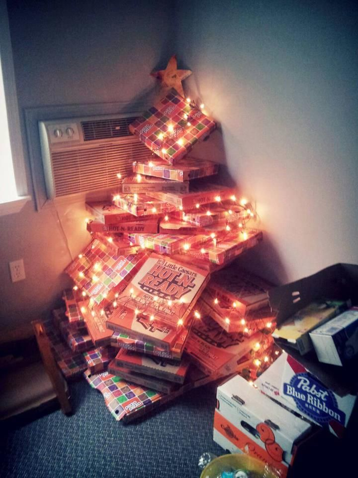 Pizza Box Trees Ode To College Peace Love And Pizza Ifunny Pizza Funny