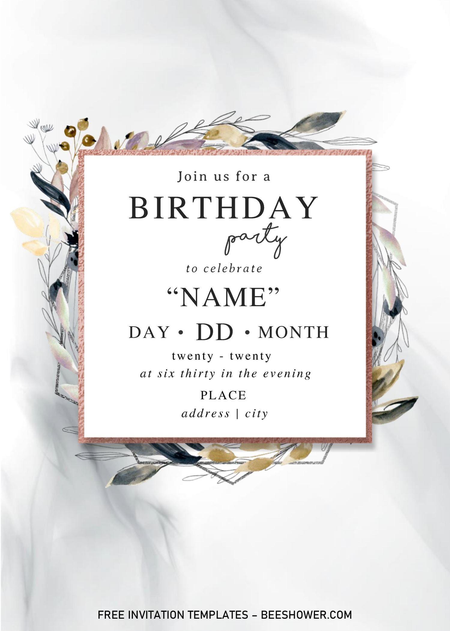 Festive Floral Baby Shower Invitation Templates Editable With Microso Baby Shower Invitation Templates Floral Baby Shower Invitations Baby Shower Invitations