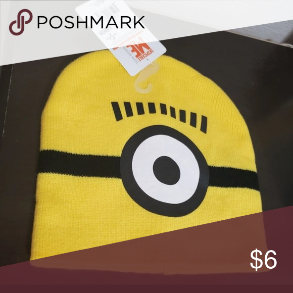 2db881b3b80 Minion beanie Large toddler   small boy beanie minions Accessories Hats