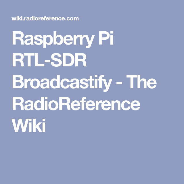 Raspberry Pi for Amateur Radio VOIP (Echolink) Part 1,2 and 3 | sdr |  Raspberry, Electronics projects, Arduino