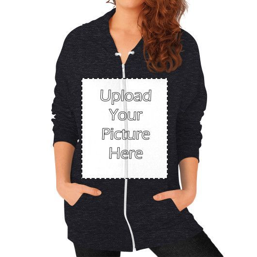 Your Image on Zip Hoodie (on woman)