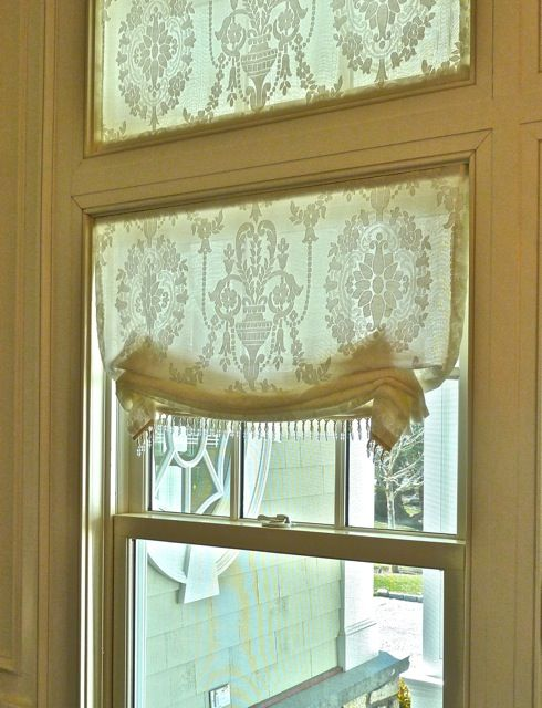 romantic window treatment