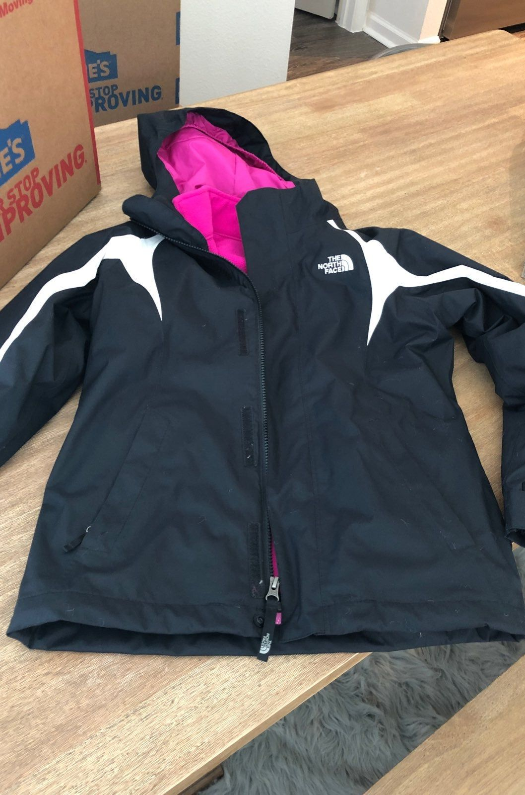 Girls Triclimate North Face Jacket Pink And Black North Face Coat North Face Jacket The North Face [ 1600 x 1058 Pixel ]