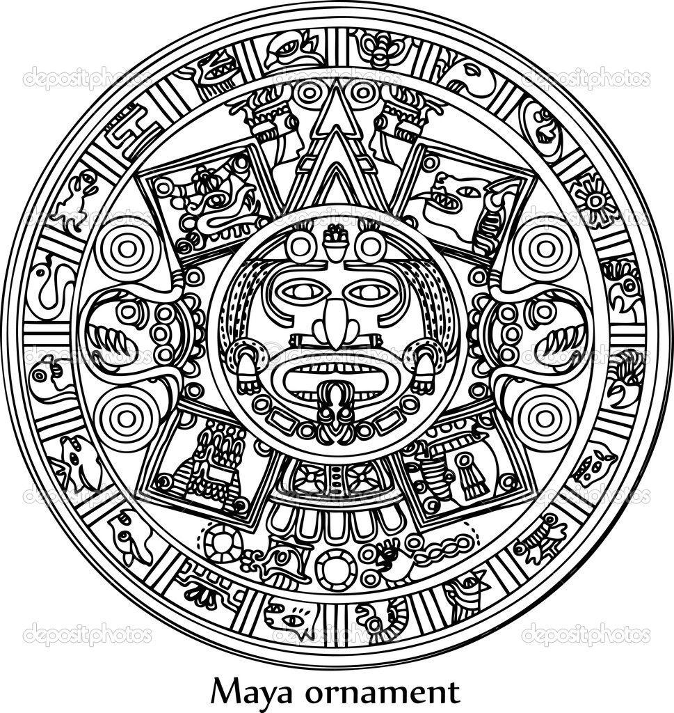 Calendario Inca Simbolos.Maya Traditional Ornament Tatuirovki Tatuajes Calendario