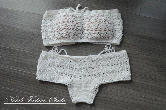 Crochet bikini bottom size M, Boho bikini, Crochet swimsuit, Crochet bikini,Hot bikini, Crochet swimwear Shorty bottom #crochetbikinibottoms