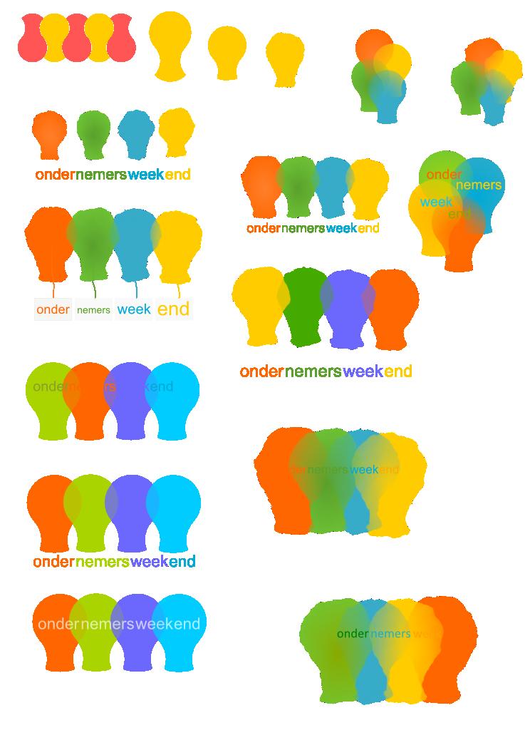 design logo ondernemersweekend 'ballon-lampen'