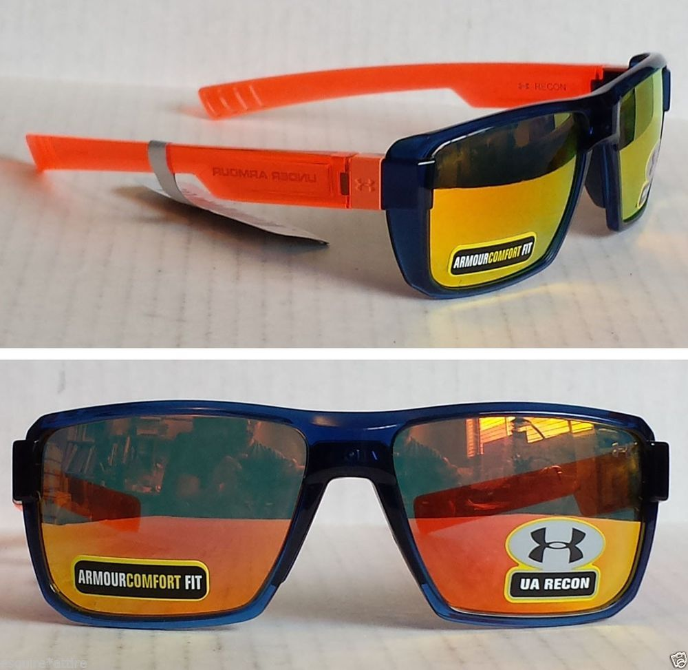 c887162f11c Under Armour sport sunglasses with mirrored lenses model RECON NWT wayfarer   UnderArmour  wayfarer