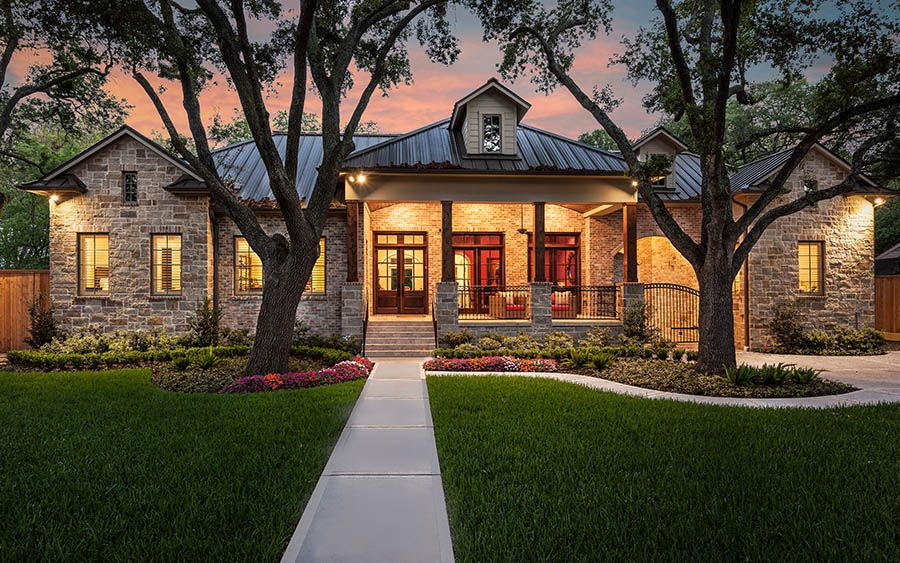 Ranch style frankel building group dream home for Texas ranch style house