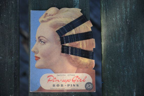 Pinup Girl BobPins in half of the Orignial Box by thetraderdepot, $55.00