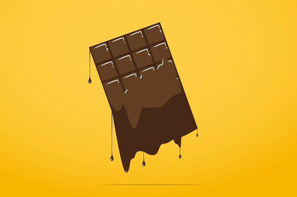 Melted Chocolate Bar Icon Melted Chocolate Bars Melting Chocolate Chocolate Logo