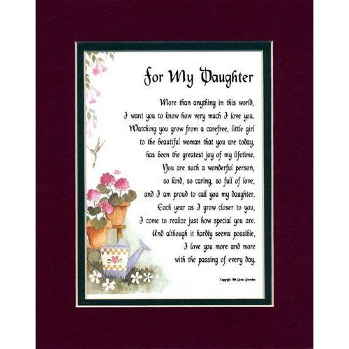 Poems to a daughter poems for daughters recipes to for Short poems for daughters from mothers