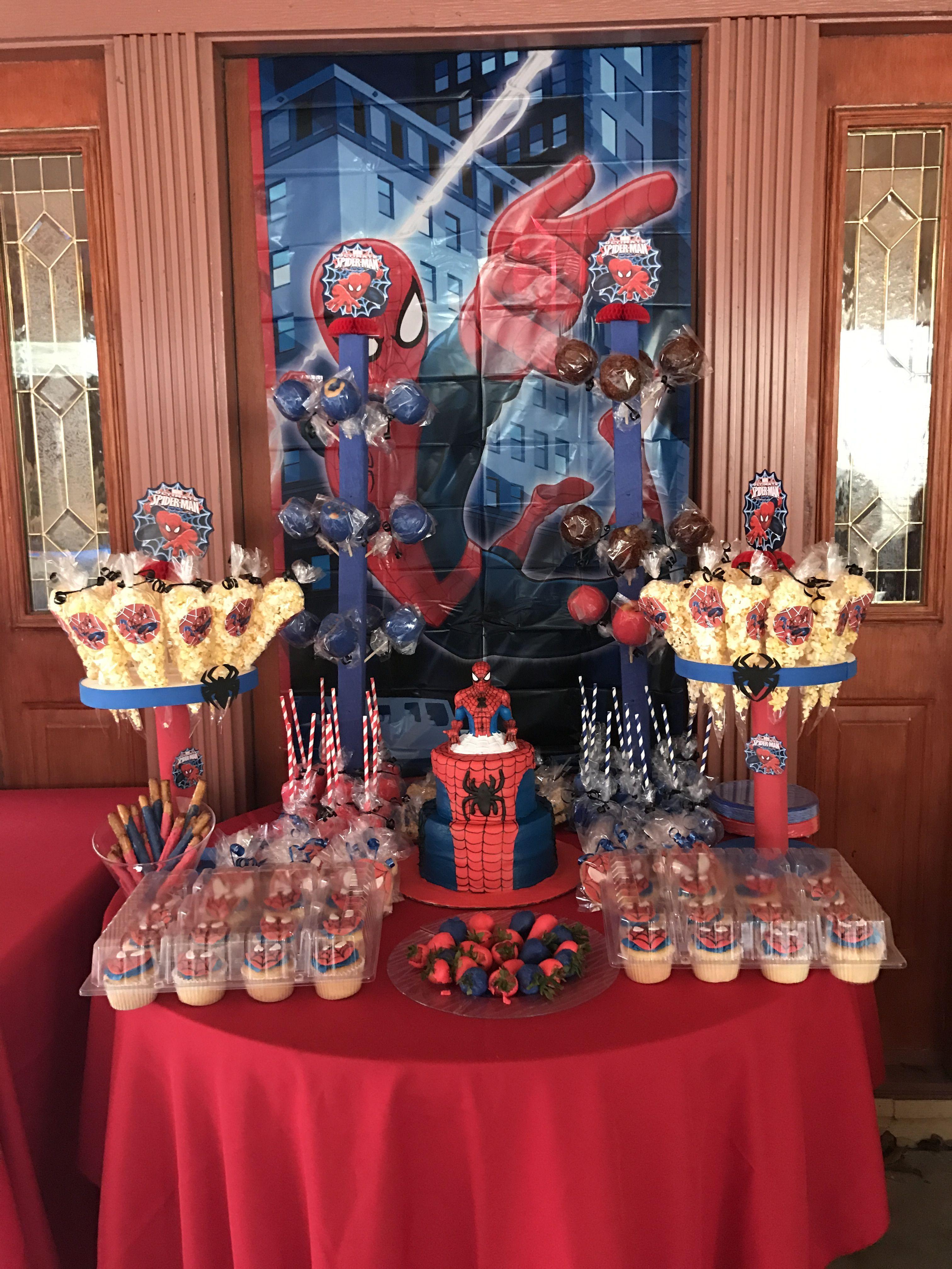 Pin by partyarranegments celia on spider man party - Decoracion de aranas ...