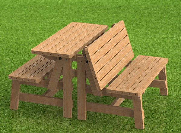 Stupendous Details About Convertible Benches To Picnic Table Ncnpc Chair Design For Home Ncnpcorg