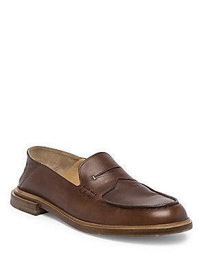 Fendi Calf Leather Penny Loafers