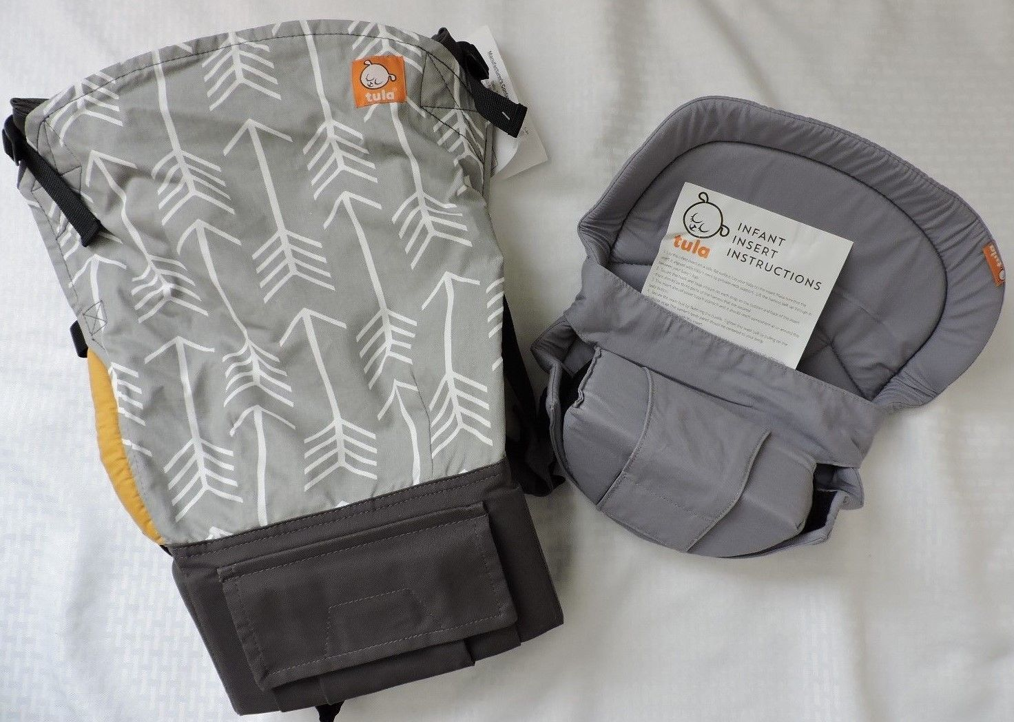NEW Tula Standard Baby Archer Grey Yellow PLUS NEW Grey Infant Insert https://t.co/BM6PSr2D9S https://t.co/Ca0z6a823g
