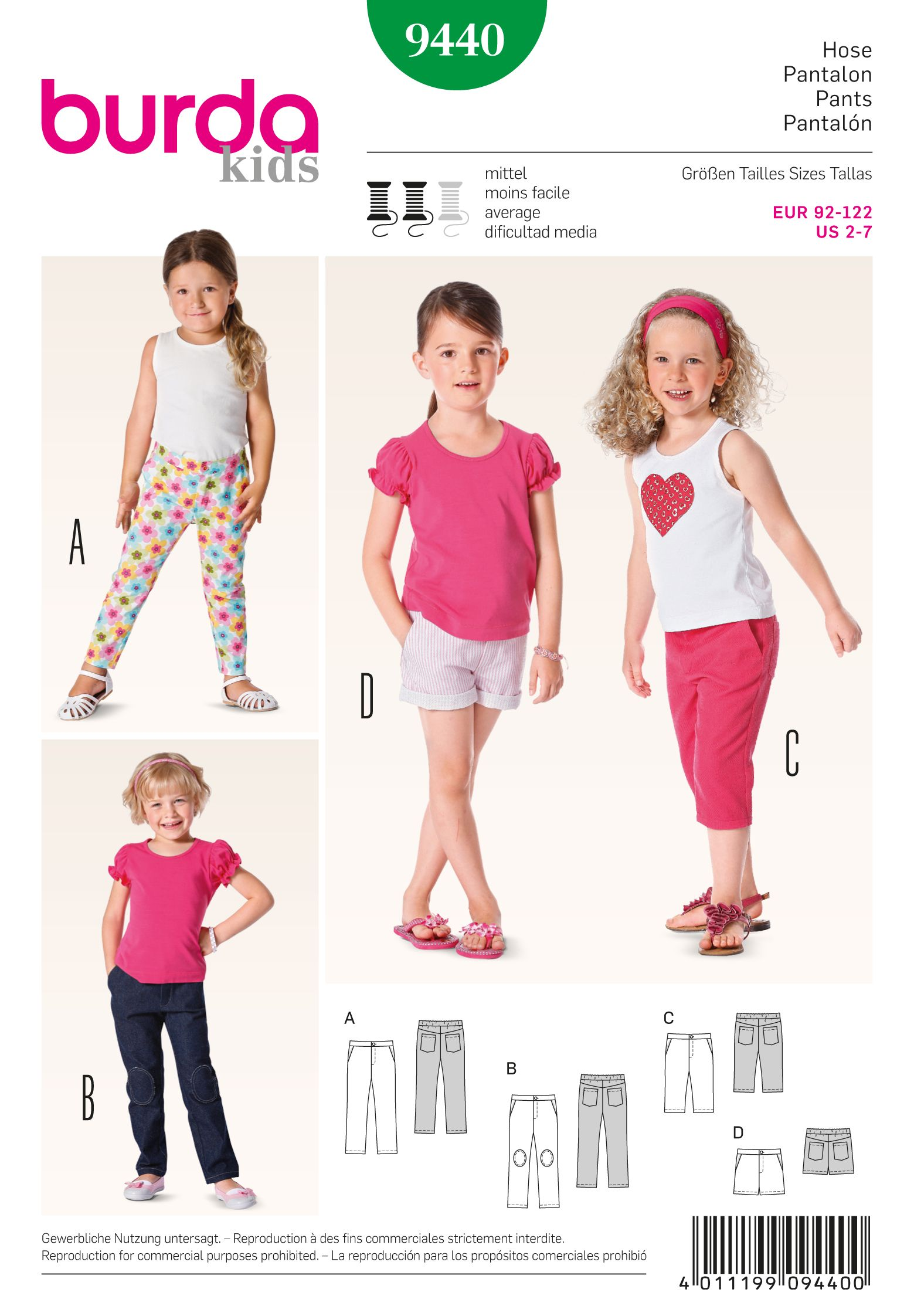 Burda 9440 toddlers toddler sewing patterns sew pattern and burda 9440 toddlers toddler sewing patternssew jeuxipadfo Choice Image