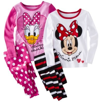 Age 1-10 Years Licensed Products Various Designs Girls Minnie Mouse Pyjamas