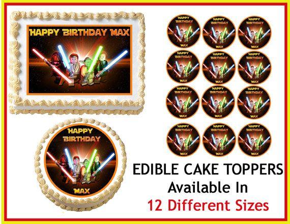 Lego Star Wars Edible Cake Image Cupcake Topper Quarter