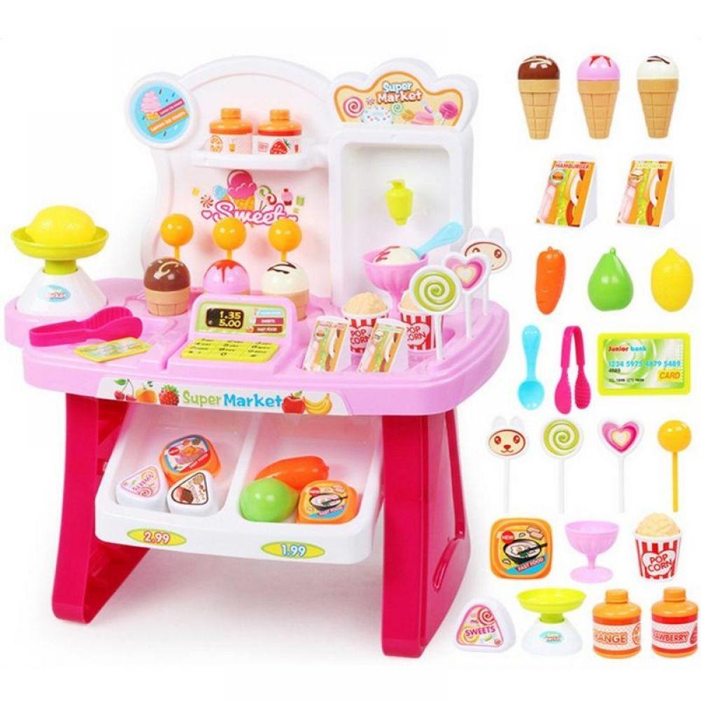 Doll Shopping Cart Plastic Cute Miniature Mini Supermarket Hand Truck Toys