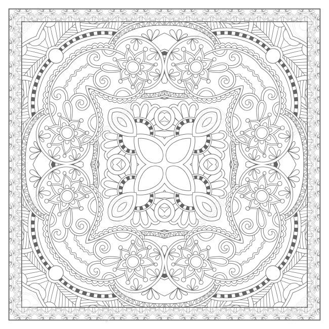 Adult Coloring Book For Stress Relief And Mindfulness