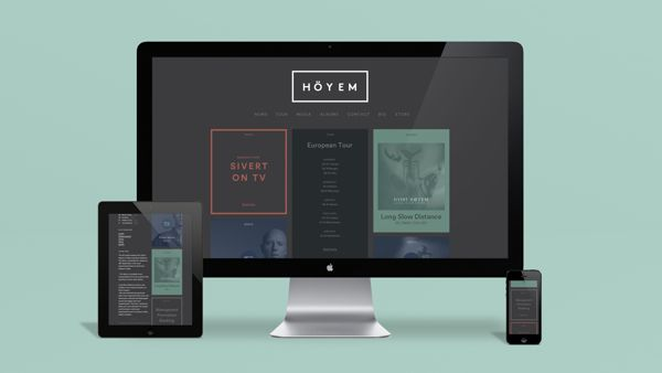Sivert Hoeyem Website and Visual Identity