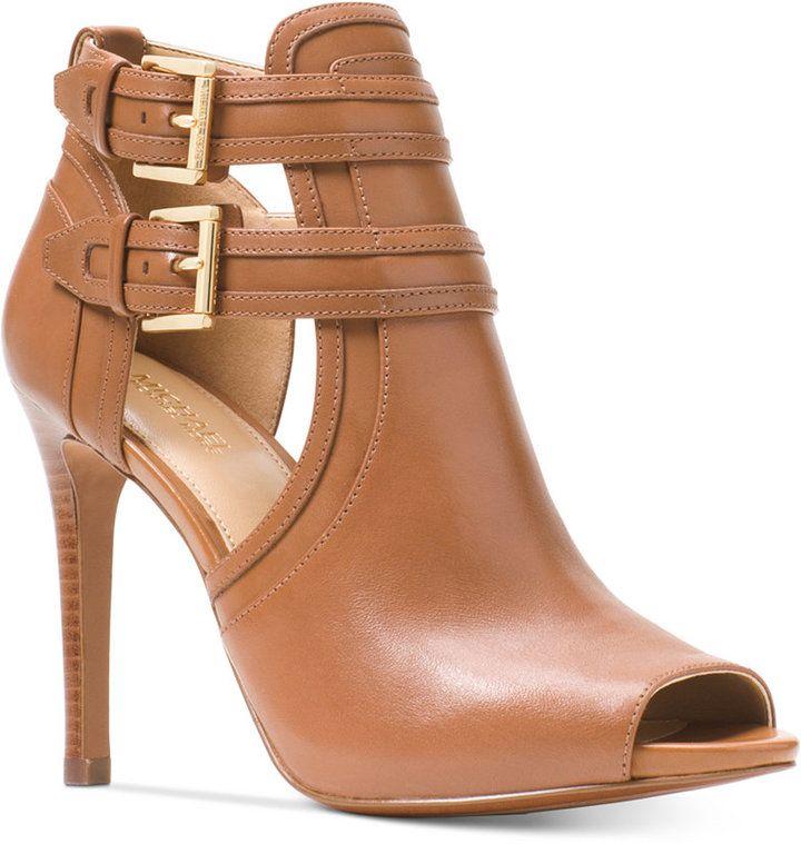 peep toe dress booties