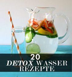 20 detox wasser rezepte f r eine entgiftungskur gesundheit pinterest detox wasser wasser. Black Bedroom Furniture Sets. Home Design Ideas