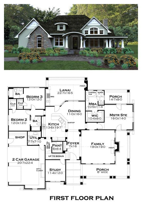 Tuscan House Plan 65875 Total Living Area 2267 sq ft, 3