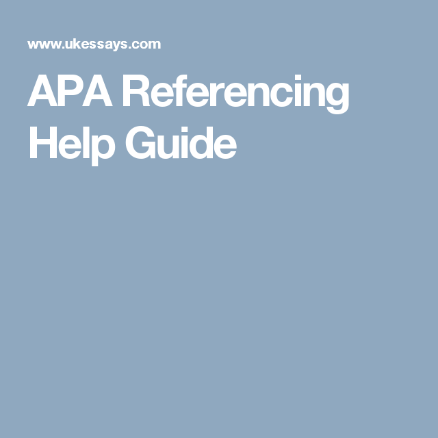 apa in text referencing guide
