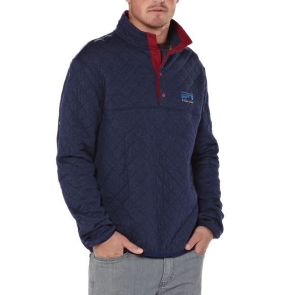 Patagonia Diamond Quilted Snap T Pullover Navy Xs