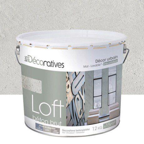 Enduit décoratif, Loft béton brut LES DECORATIVES, beige Stockholm - peinture sur beton brut
