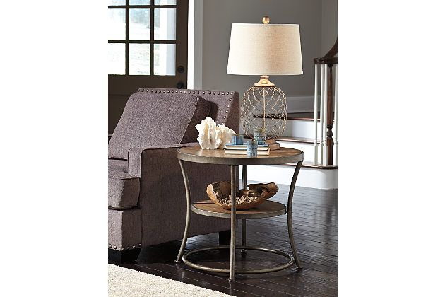 Light Brown Nartina End Table View 1   End tables, Living ...