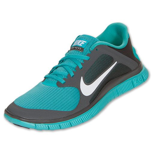 Nike Free 4.0 V3 Mens Midnight Fog White Sport Turquoise 579958 013 - Click Image to Close