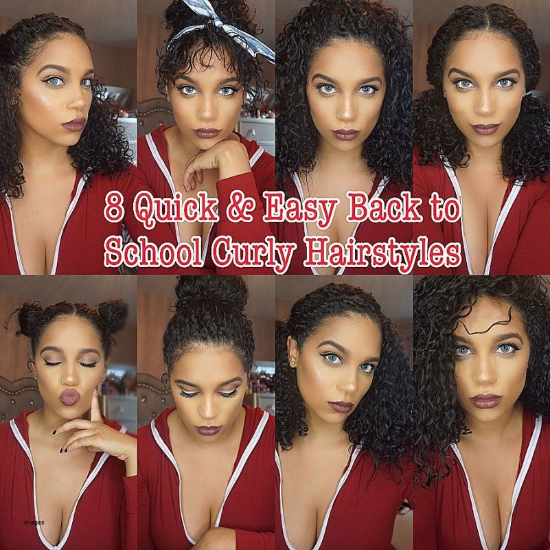 Hairstyles For Curly Hair In School Curly Hair Styles Easy