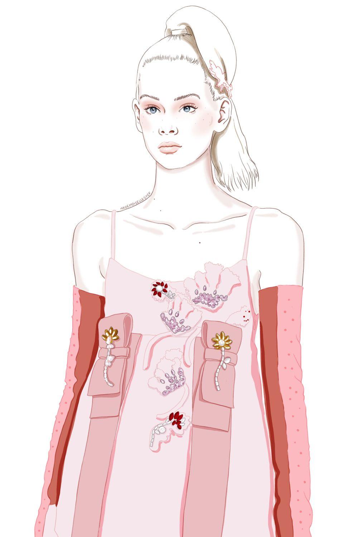 Mademoiselle Stef - Blog Mode, Dessin, Paris | Illustration de mode / Fashion week : Prada | http://www.mademoisellestef.com