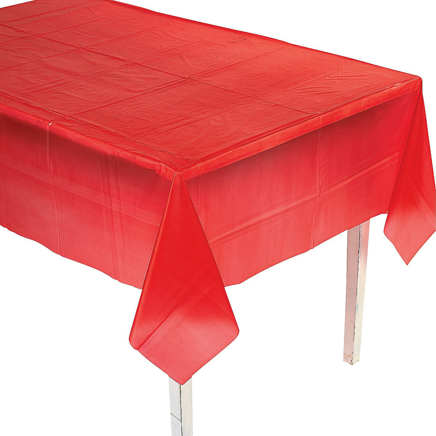 Rectangle Plastic Tablecloth Red Tablecloth Table