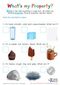 Physical Properties Of Matter Pdf Worksheet Kids Preschool Kindergarten Kindergarten Matter Worksheets Properties Of Matter Physical Properties Of Matter