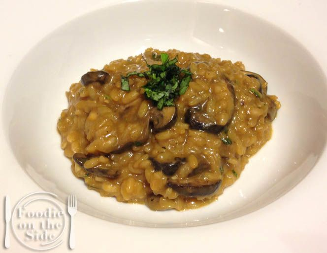Mushroom Risotto with imported Marsala Wine - http://www.foodieontheside.com/mushroom-risotto-with-marsala-wine/