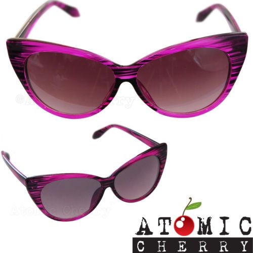 47da908d6347 Cat Eye Sunglasses Pink Retro Rockabilly Pin Up 50 s Tipped Pointed Chic  Cool