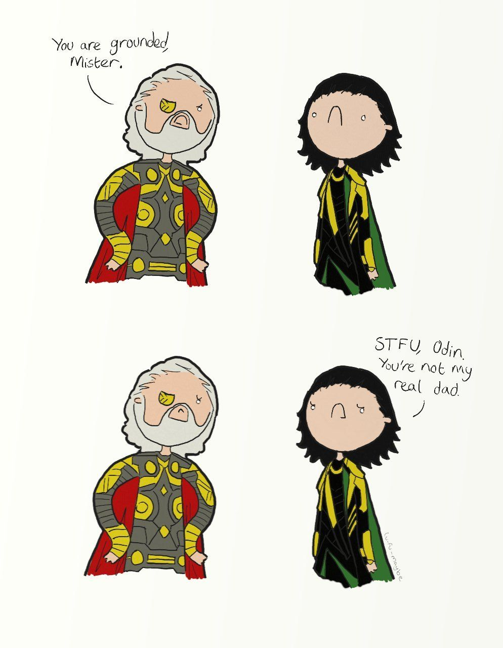 Just rewatched the scene where Loki finds out. Hiddles looked so distraught